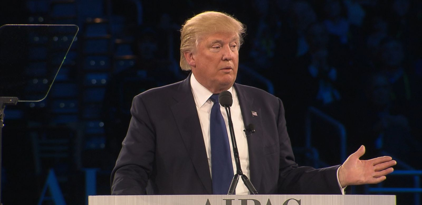 VIDEO: Donald Trump told the annual AIPAC convention that he will stand with Israel if elected president.