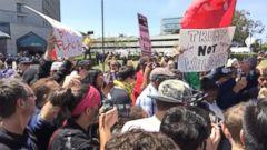 VIDEO: Donald Trump Protesters Gather Outside California GOP Delegate Convention