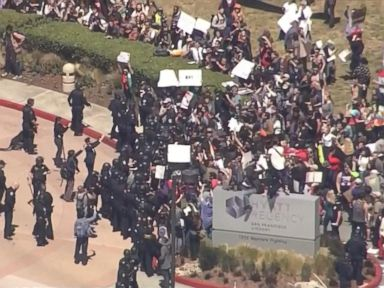 Watch:  Tense Protests Near Trumps Next California Speech Site
