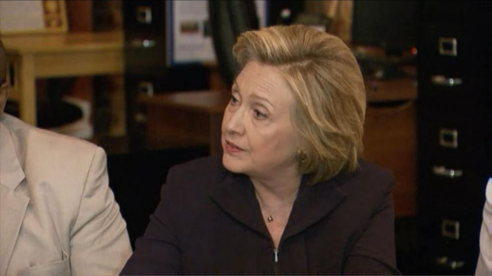 hillary clinton confronted by coal miner video abc news