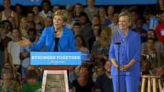VIDEO: The Massachusetts senator joined Hillary Clinton on the campaign trail in Ohio.