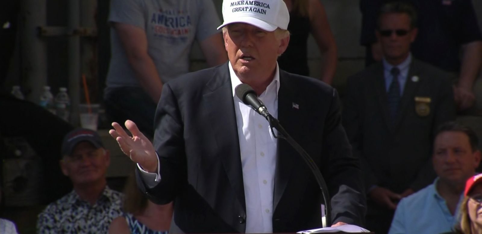 VIDEO: A woman at a Trump event in New Hampshire raised the issue on Thursday.