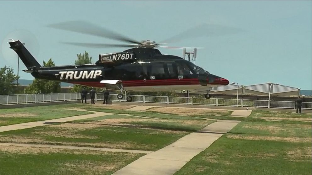 Donald Trump Arrives by Helicopter for Day 3 of RNC Video - ABC News