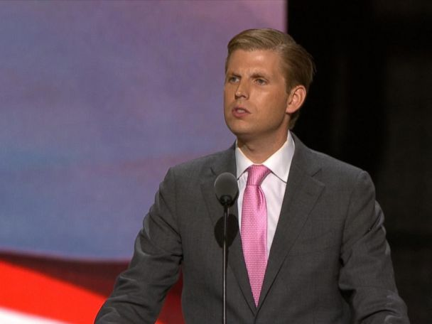 WATCH:  Eric Trump: 'My Father Is Running for You'