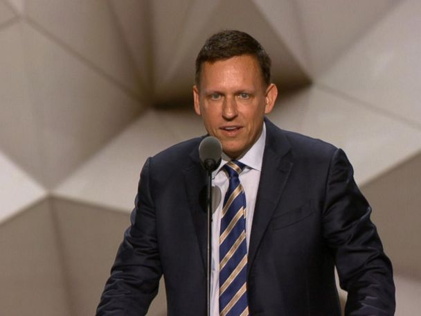 WATCH:  Peter Thiel: 'I'm Proud to Be Gay, I'm Proud to Be a Republican'
