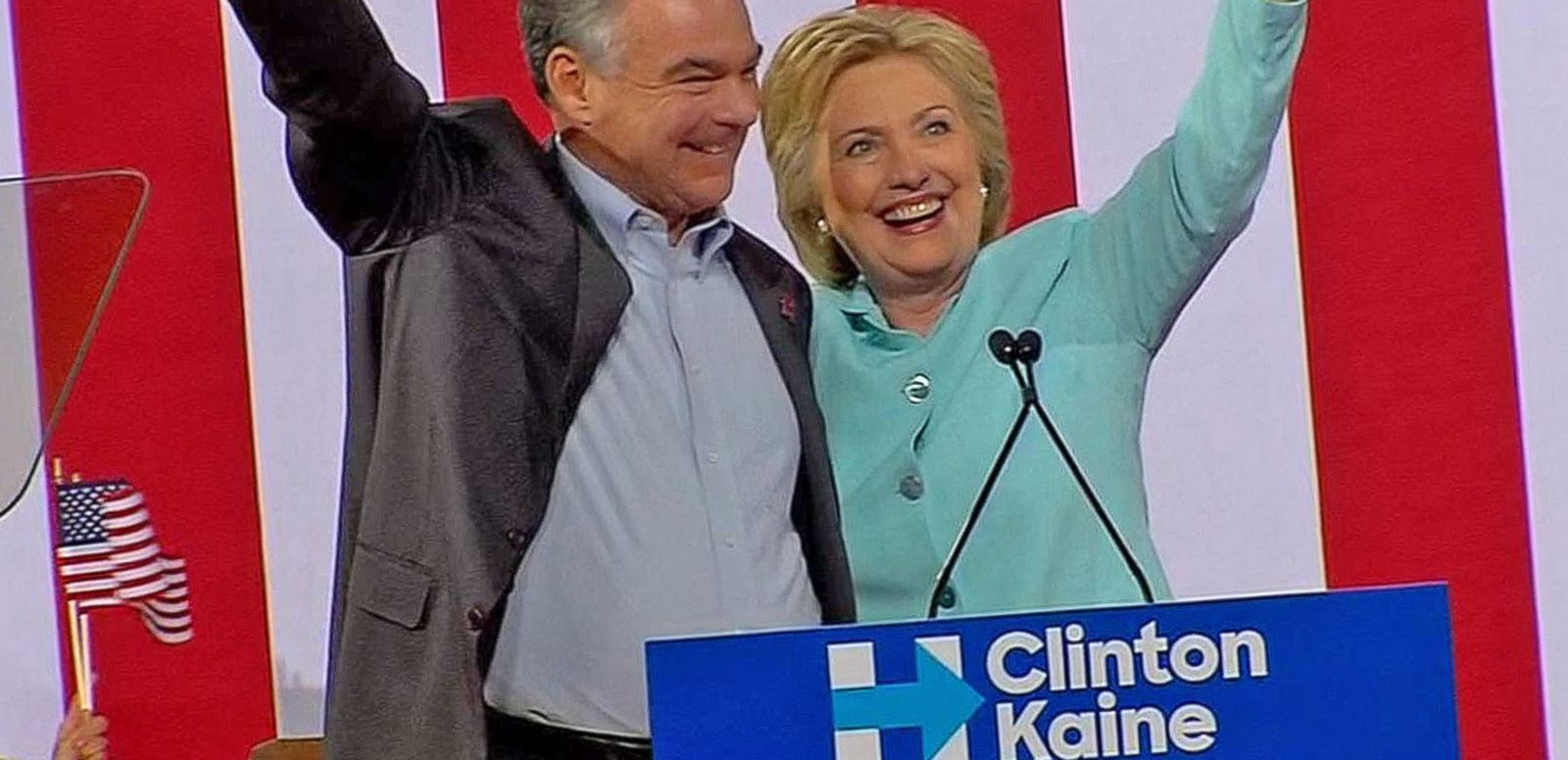 VIDEO: Hillary Clinton Officially Introduces Tim Kaine During Campaign Rally