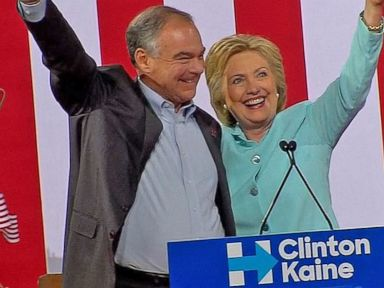 WATCH:  Hillary Clinton Officially Introduces Tim Kaine During Campaign Rally