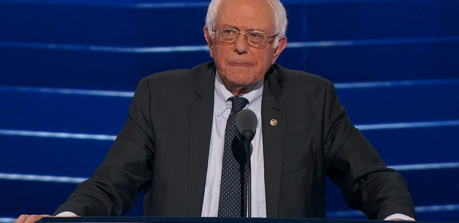 Sanders was the last speaker Monday night.