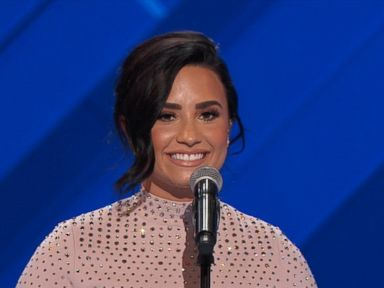 WATCH:  Demi Lovato Speaks at Opening Night of the DNC