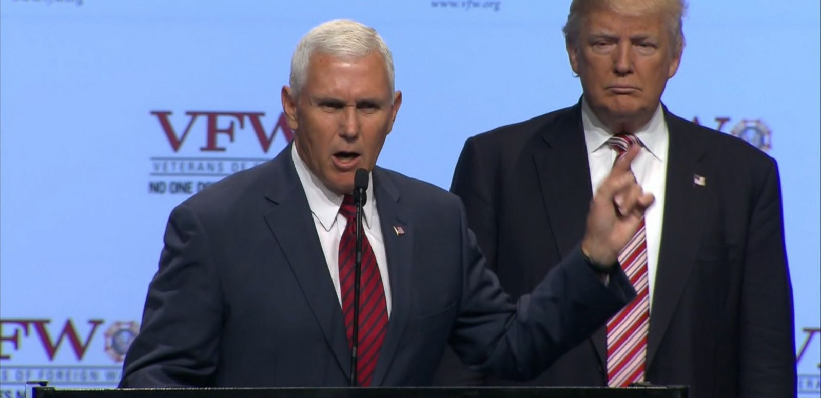 The vice presidential nominee made the comments to the Veterans of Foreign Wars.