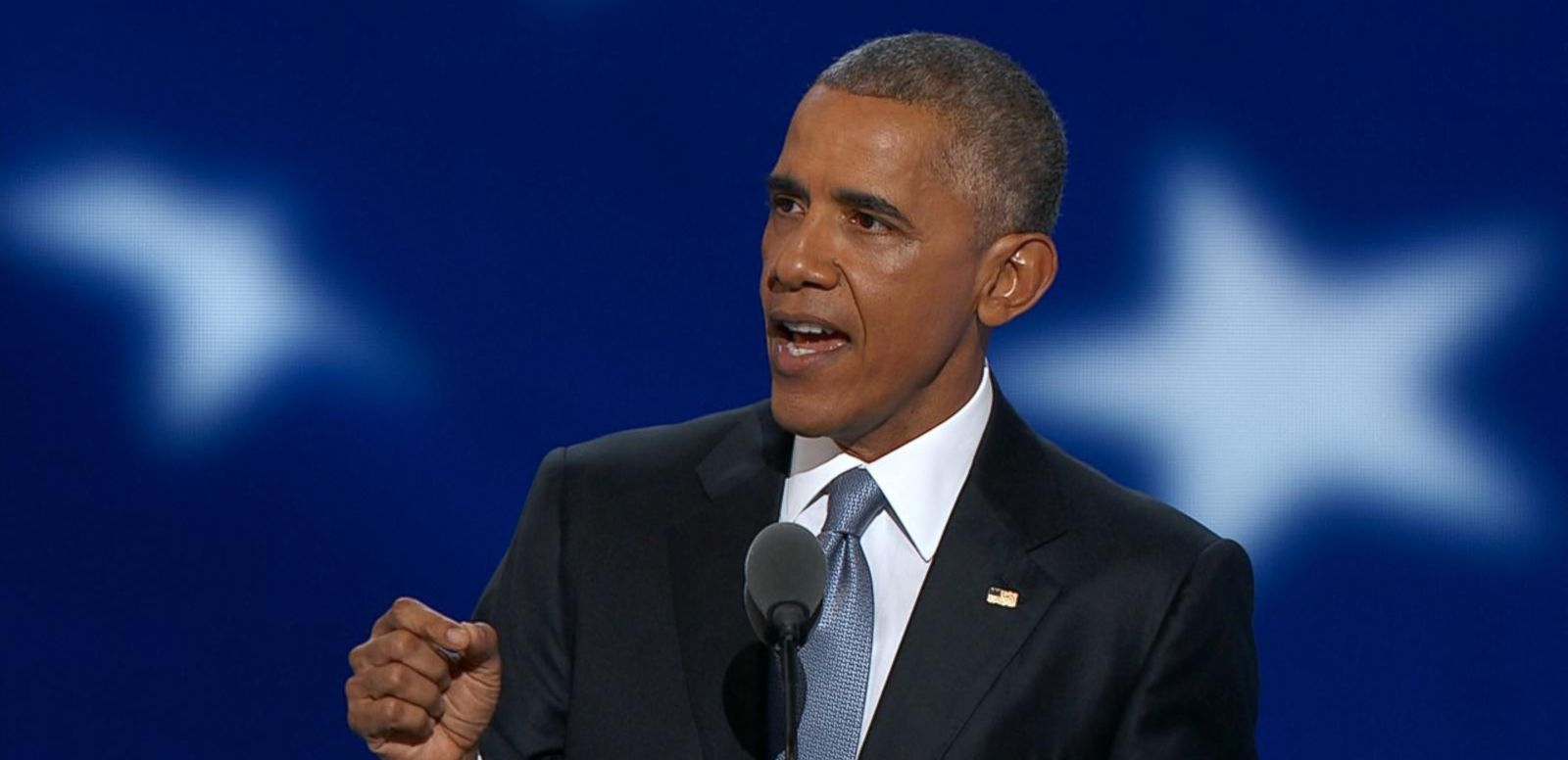 President Obama delivered a resounding defense of the state of the country at the Democratic Convention Wednesday night.