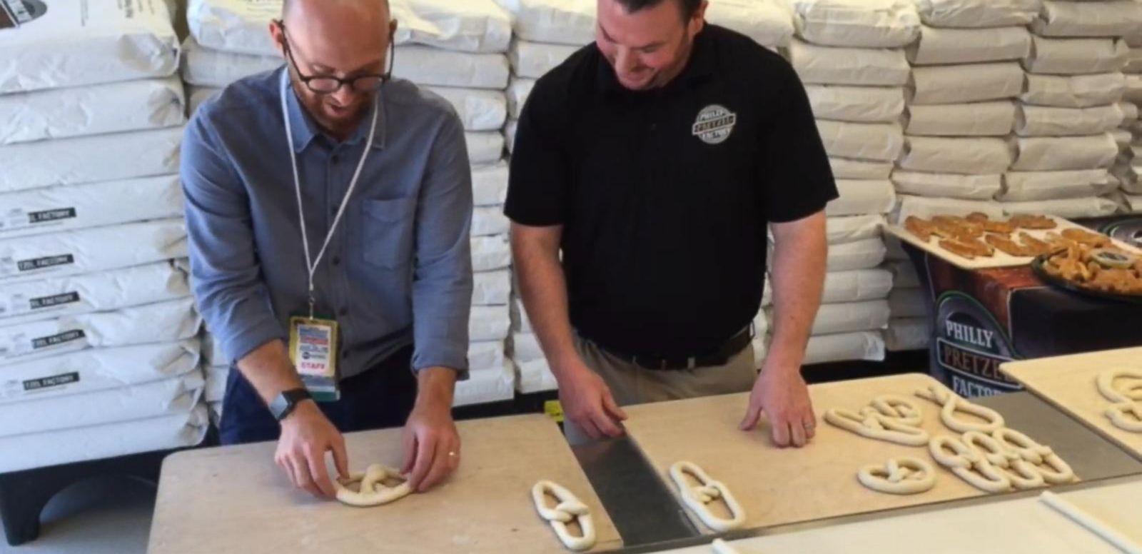 VIDEO: Pretzels and Politics at the Philly Pretzel Factory