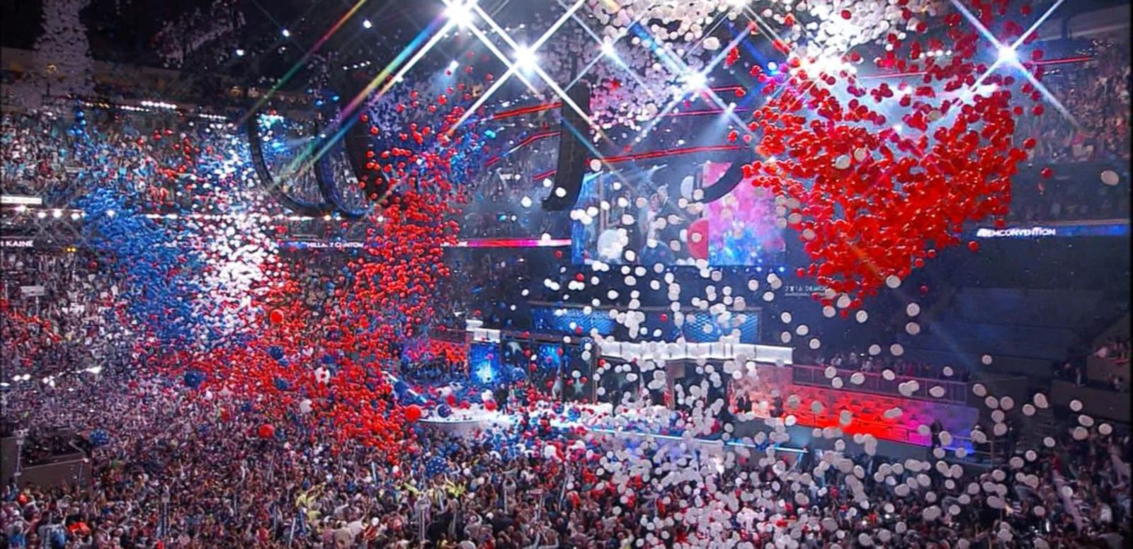 VIDEO: Balloon Drop Marks the Close of the 2016 Democratic National Convention