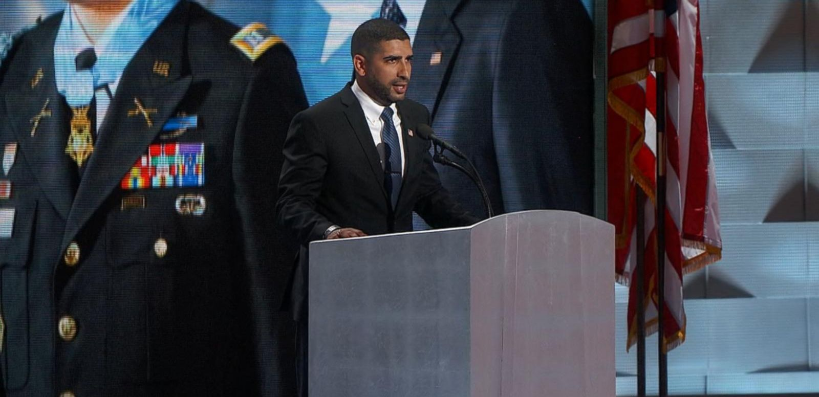 VIDEO: Ret. US Army Capt. Florent Groberg Speaks at the Democratic National Convention