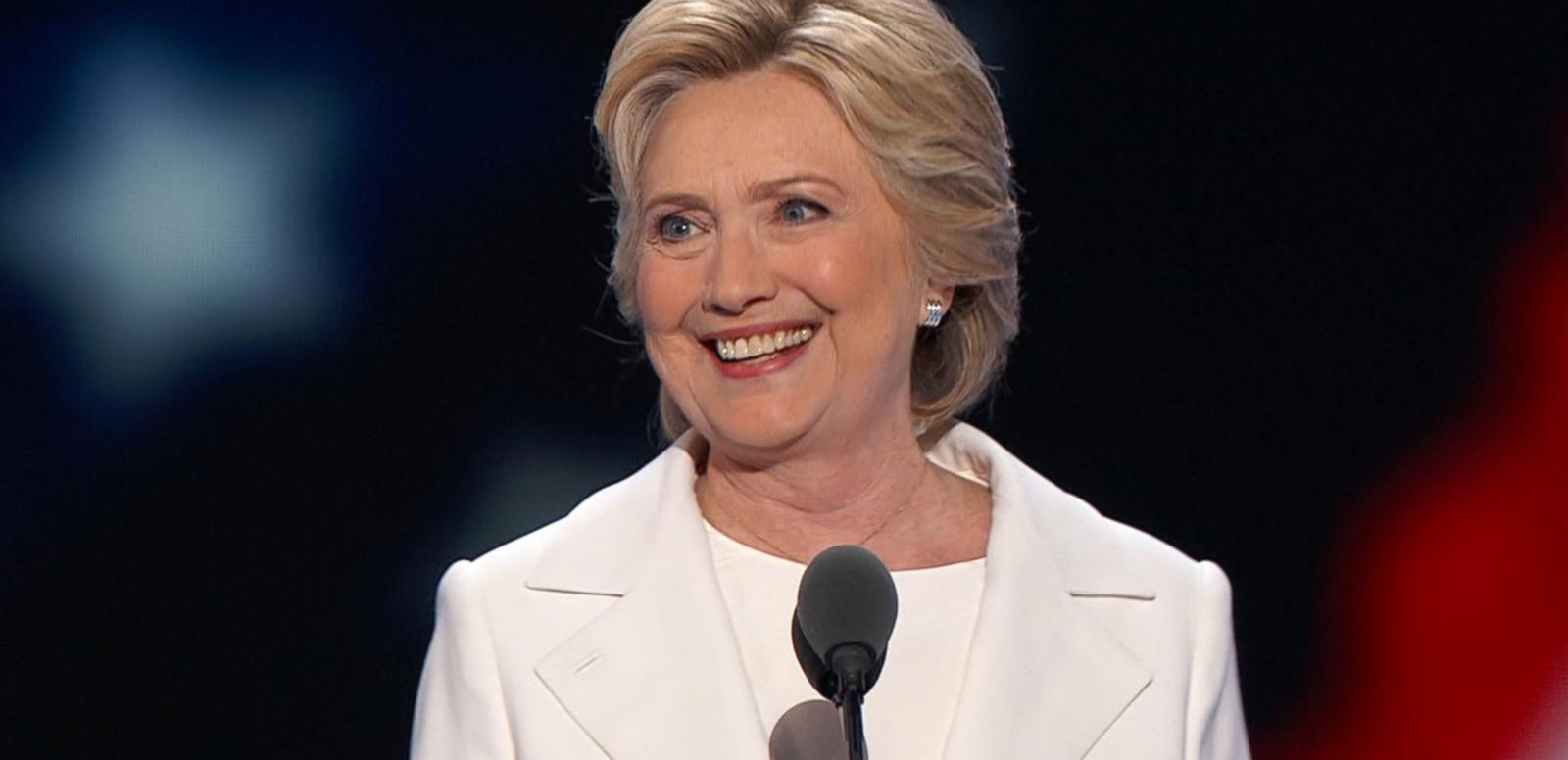 She has officially become the first female nominee of a major political party.