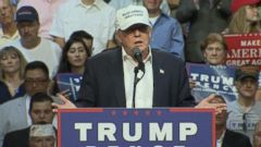 Trump made the claim at a rally in a Michigan suburb.