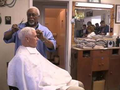 WATCH:  Pence Gets Hair Cut by Barber Who Doesnt Recognize Him