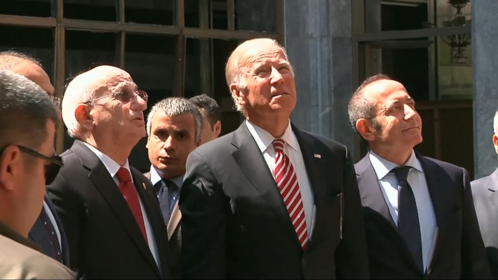 Vice President Joe Biden is in Turkey today meeting with the country's leadership, starting with a tour of the Turkish Parliament building that was damaged by airstrikes during last month's failed coup attempt.