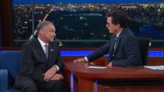 VIDEO: Tim Kaine Makes Late Show Debut