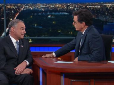 WATCH:  Tim Kaine Makes Late Show Debut