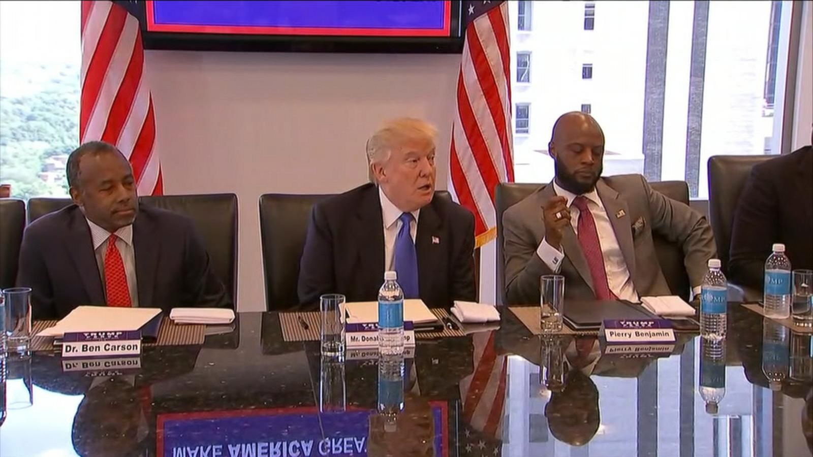 The Republican presidential nominee is meeting with members of the Republican Leadership Initiative at Trump Tower.