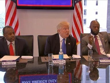 WATCH:  Trump Meets With Black and Hispanic Leaders in Manhattan