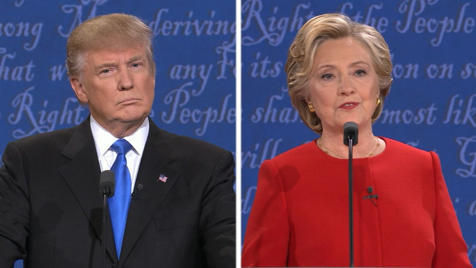VIDEO: Hillary Clinton and Donald Trump debated at Hofstra University in Hempstead, New York.