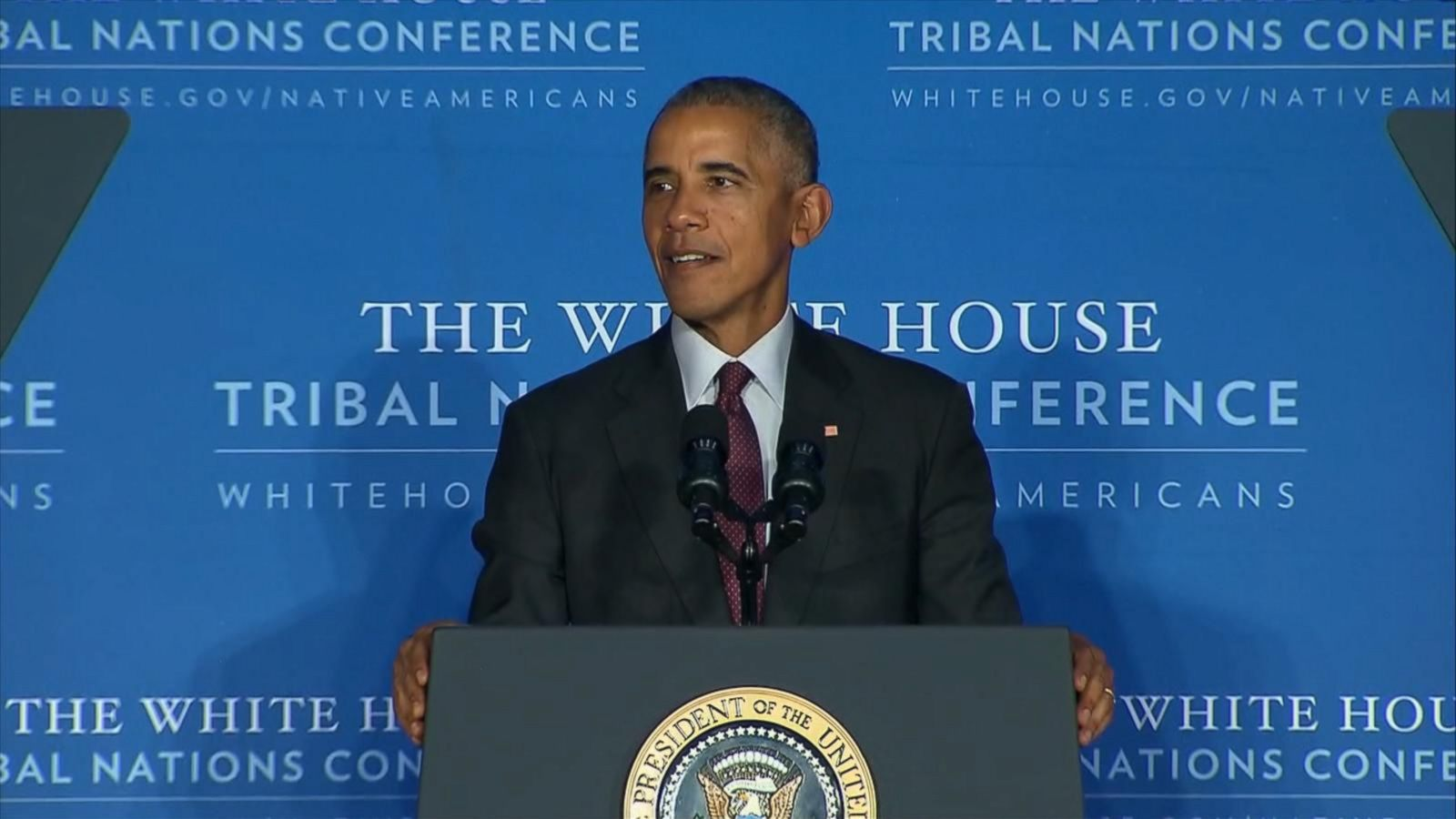 Obama weighs in on Dakota Access pipeline protest at Tribal Nations conference.