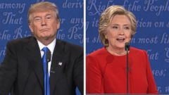 VIDEO: As the first presidential debate was drawing to a close, Hillary Clinton took one last chance to hammer Donald Trump, hitting at his remarks on women.