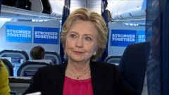 She answered questions on her campaign plane this morning.