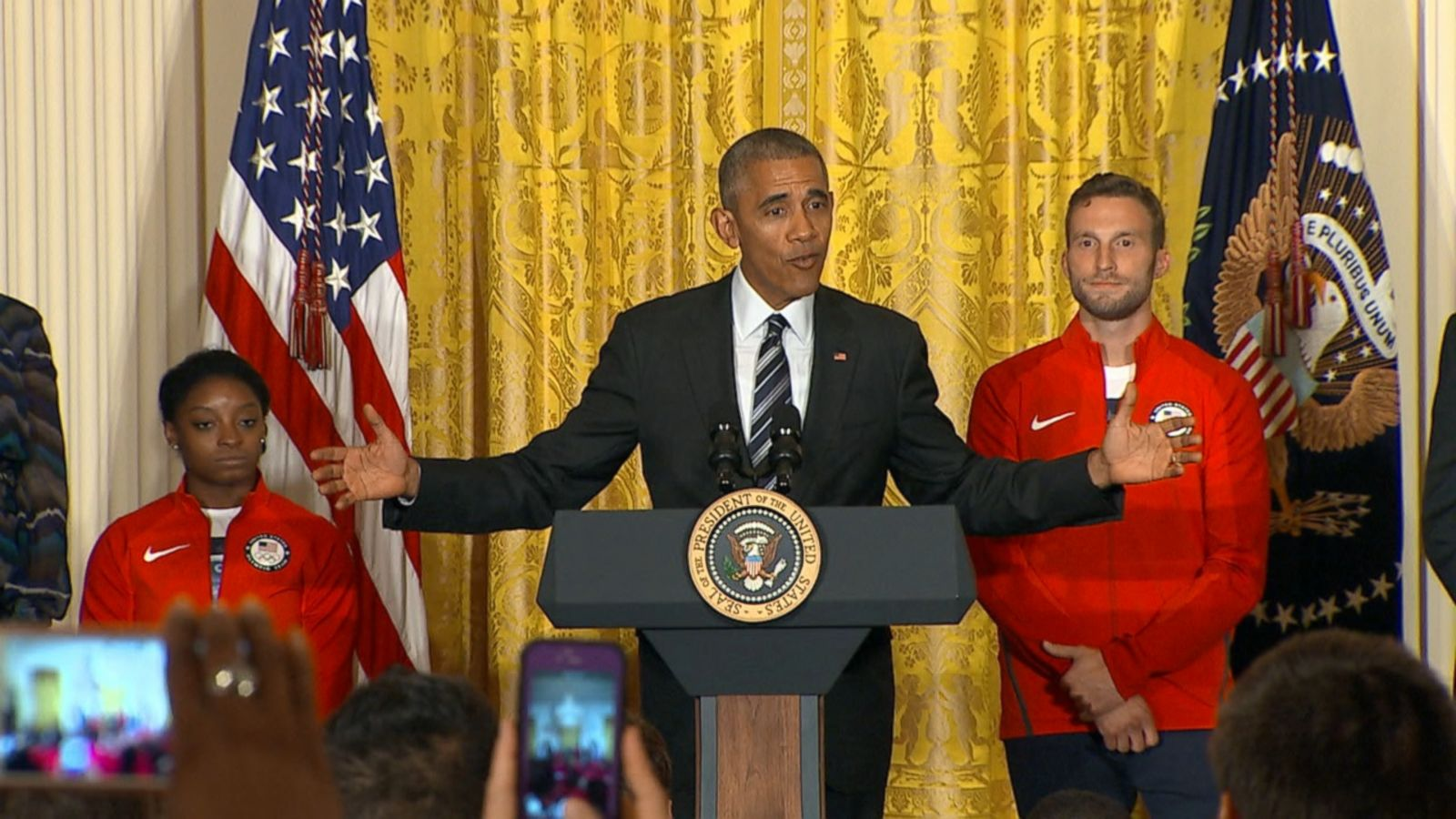 VIDEO: President Obama welcomed Team USA to the White House today, congratulating them not only for their gold, silver and bronze medals but also for their representation of a diverse set of ideals that inspired Americans during the Rio Summer Games.