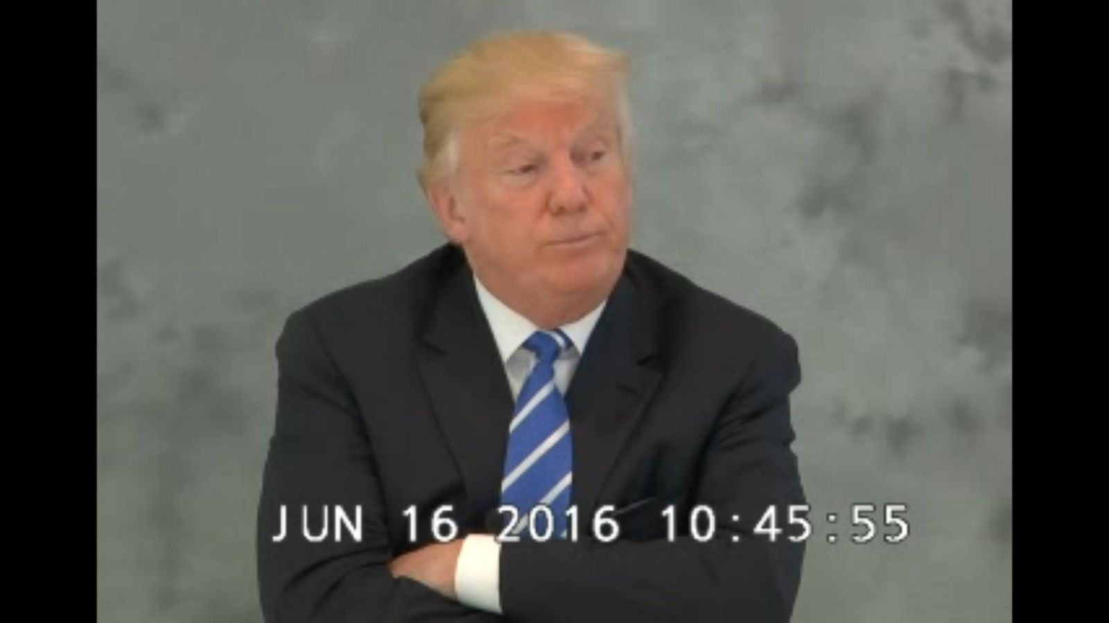 "VIDEO: Video was made public that shows Donald Trump being questioned under oath in a legal case stemming from his saying that undocumented immigrants from Mexico are criminals and ""rapists."""