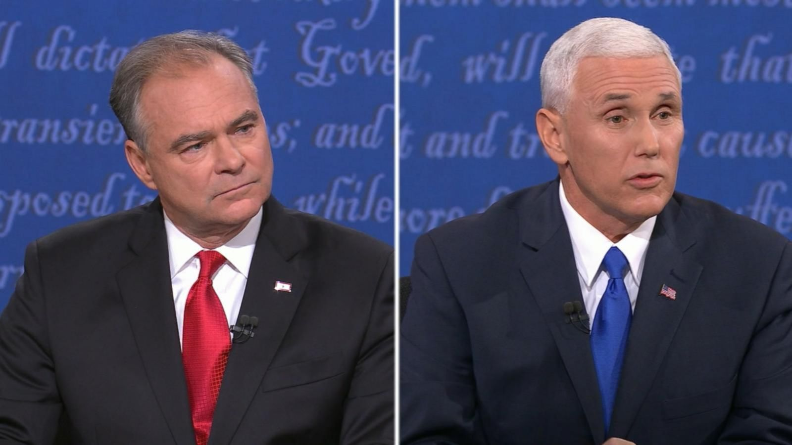 VIDEO: Vice Presidential Nominees Debate Law Enforcement and Race Relations in the US
