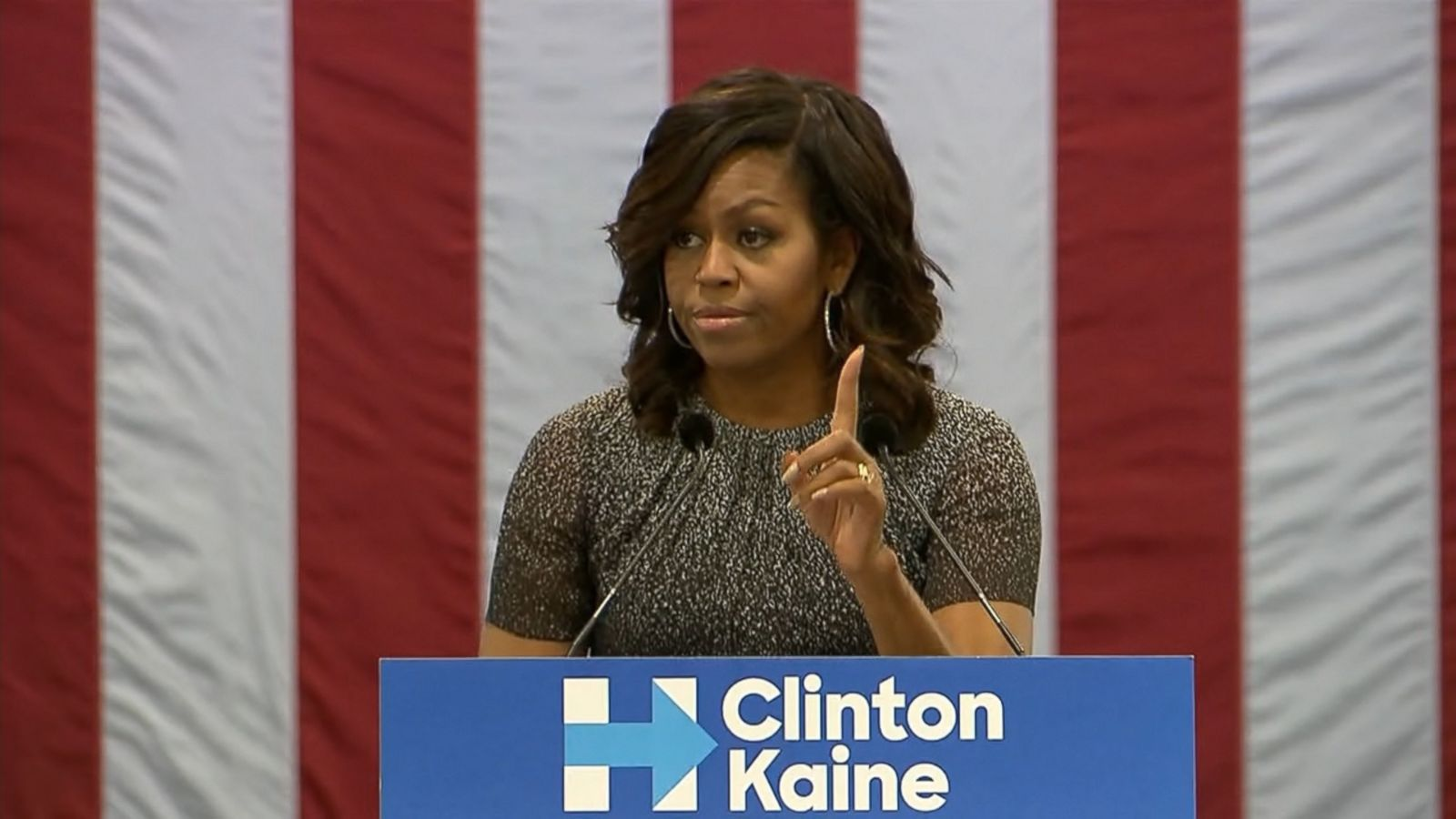 First Lady Michelle Obama slammed Donald Trump today in Arizona, a state that has not voted for a Democrat since 1996 but polling shows is in play for Hillary Clinton.