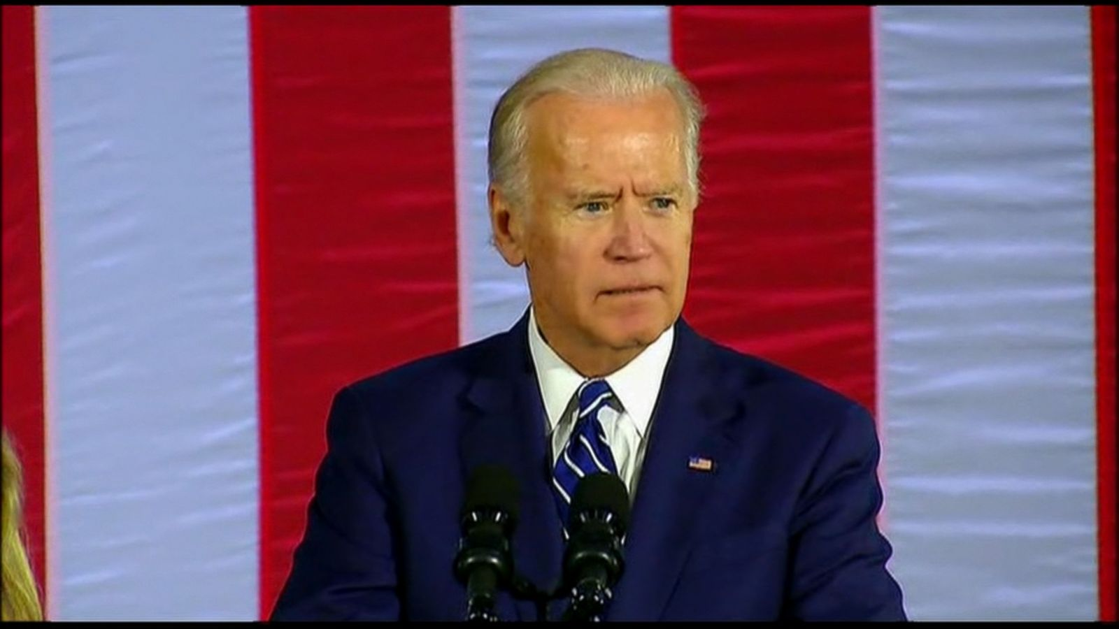 "Vice President Joe Biden took GOP candidate Donald Trump to task over comments he made bragging about his ability to grope women, saying he wished he were in high school so ""I could take him behind the gym."""