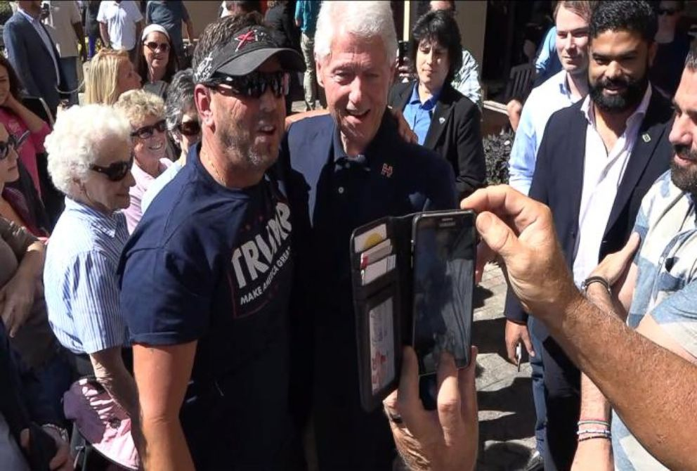VIDEO: Bill Clinton and Trump Supporter Pose for Photo