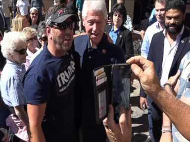 WATCH:  Bill Clinton and Trump Supporter Pose for Photo