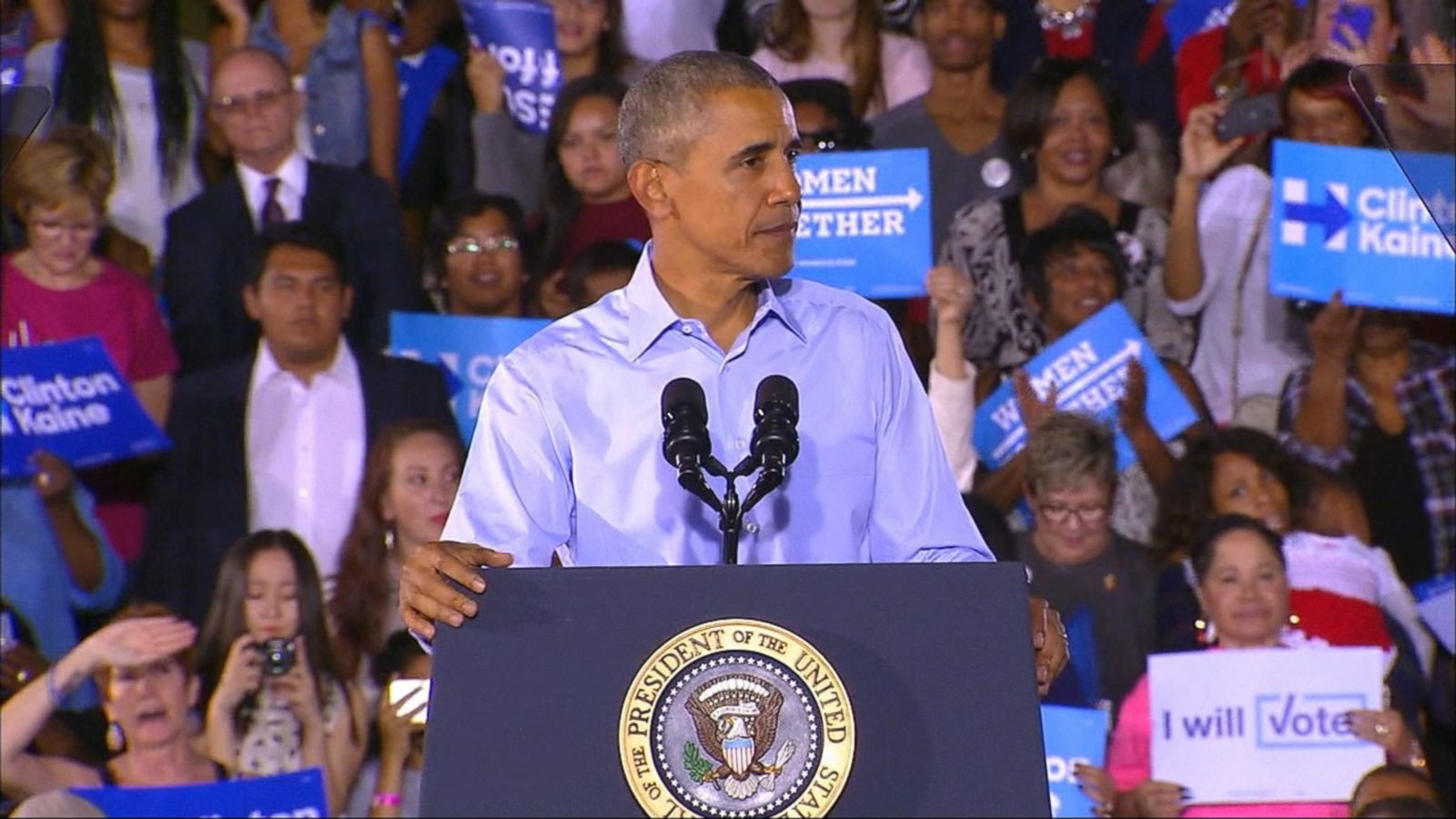 VIDEO: President Obama continued his assault on down-ballot Republicans in Nevada Sunday, criticizing Senate candidate Joe Heck and the GOP at large for enabling Donald Trump, while urging Nevadans to send Democrats to Congress.