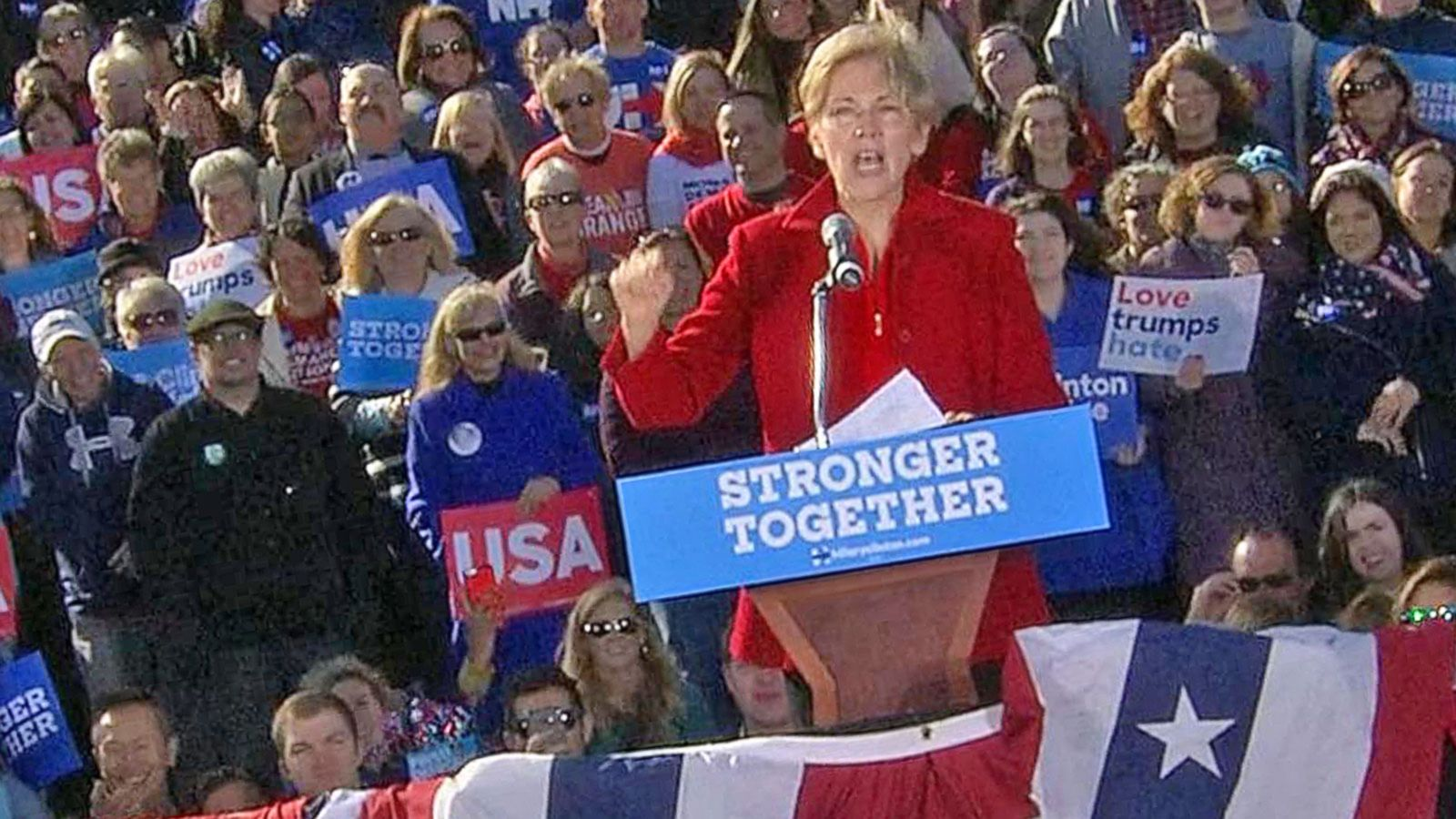 VIDEO: Elizabeth Warren: 'Nasty Women' Will Vote Trump Out of Their Lives Forever