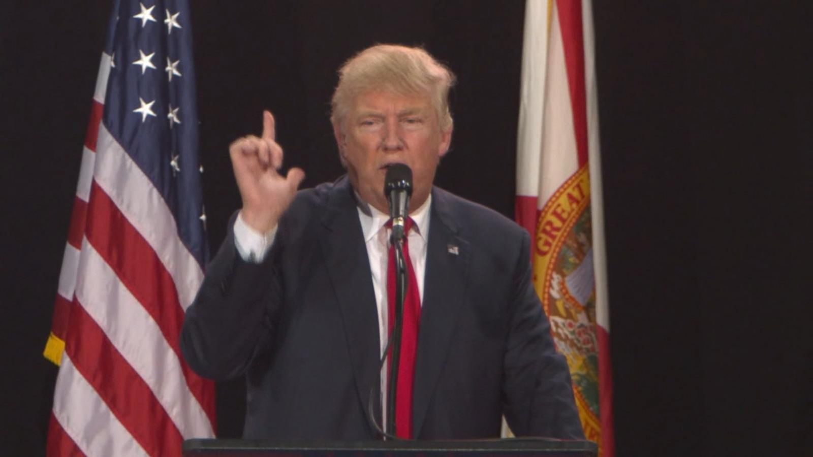 Speaking at a rally in Tampa, Florida, Trump jumped on the news that average premiums under the Affordable Care Act will go up sharply.