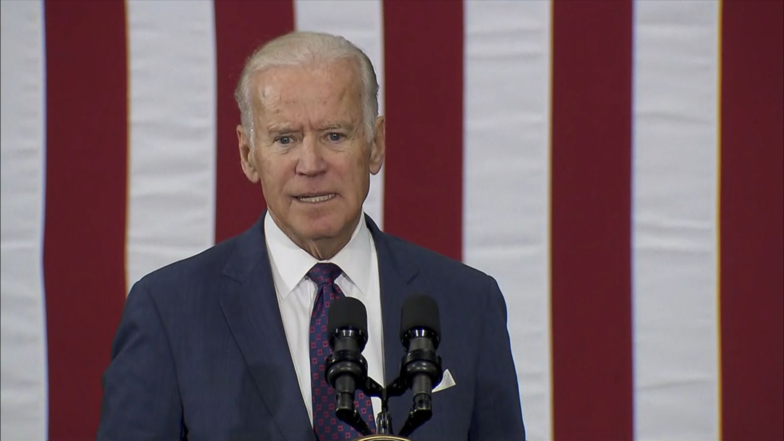 "VIDEO: The vice president says the Republican presidential candidate ""is doing harm to the United States of America."""