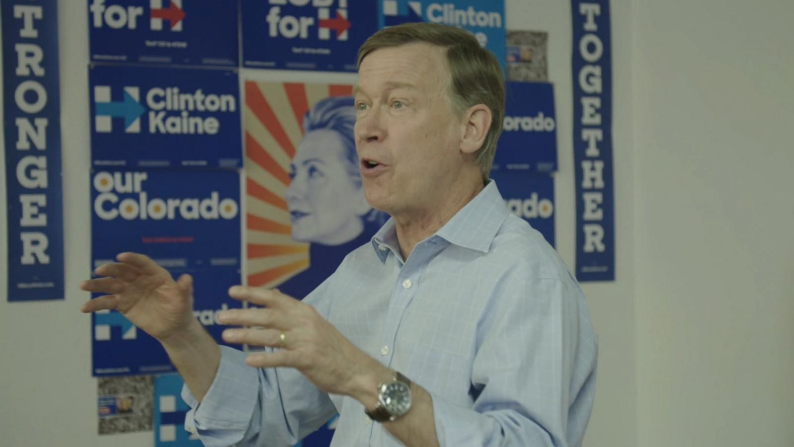 VIDEO: Governor Hickenlooper Hops on the 'Election Cycle'