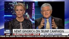 VIDEO: Former Speaker of the House Newt Gingrich unleashed a tirade on Fox News host Megyn Kelly after she mentioned Donald Trumps sexual accusers, saying she was fascinated with sex.