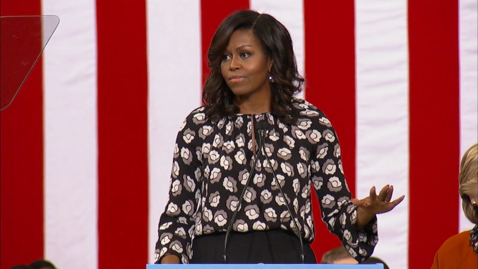 First lady Michelle Obama and Hillary Clinton took the stage together for the first time in this election at an early-vote rally in North Carolina today.