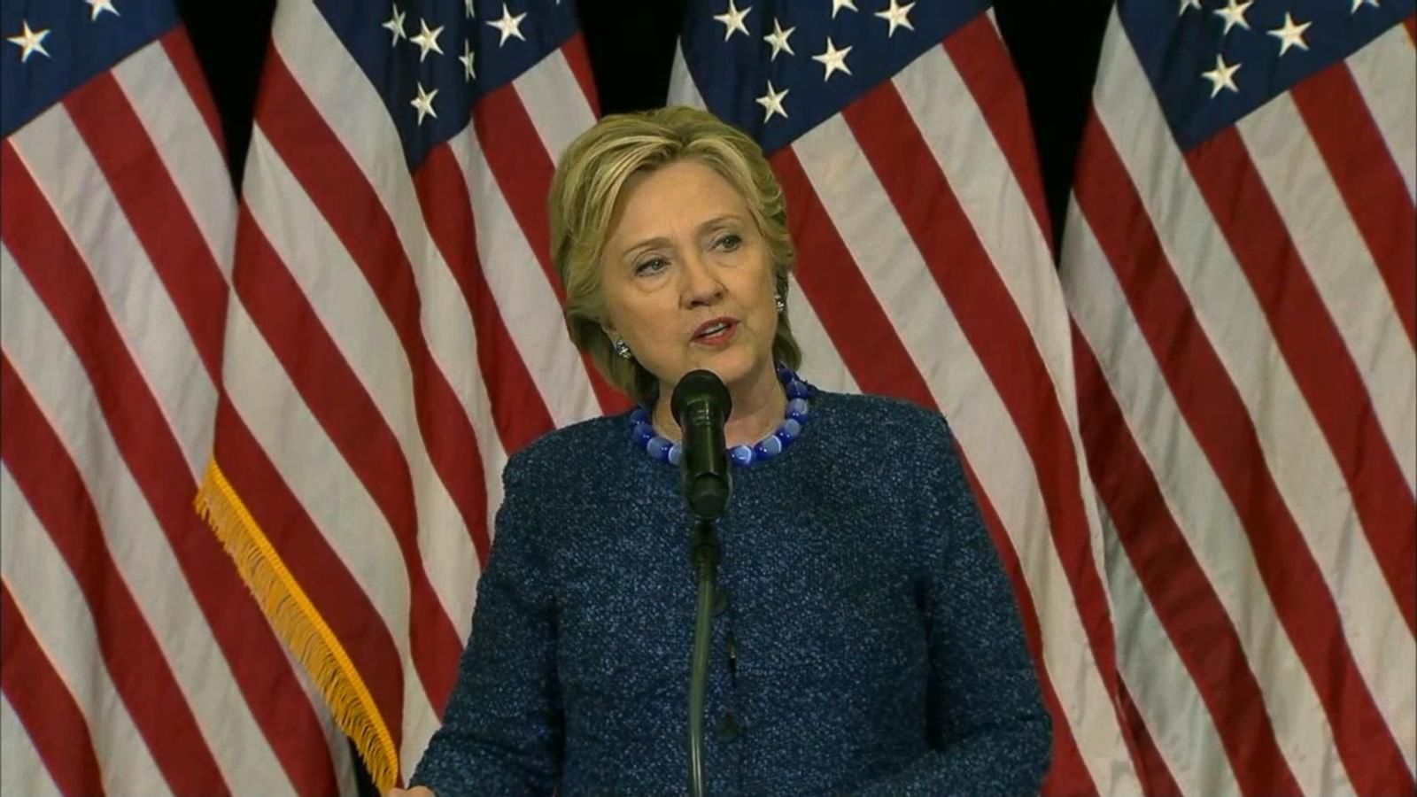 The Democratic nominee addressed the public this evening.