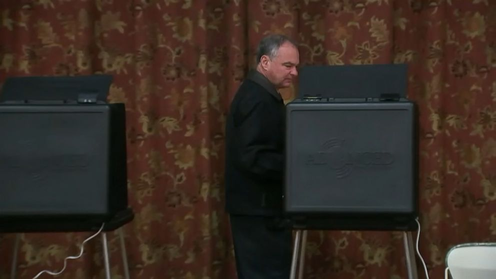 Video: Tim Kaine Casts His Vote