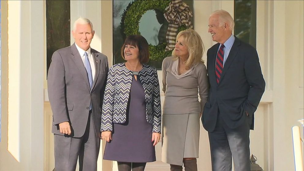 joe biden and mike pence meet for lunch at biden residence video