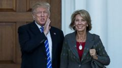 President-elect Donald Trump has tapped charter school advocate and billionaire businesswoman Betsy DeVos as his pick for education secretary, his transition team announced Wednesday.