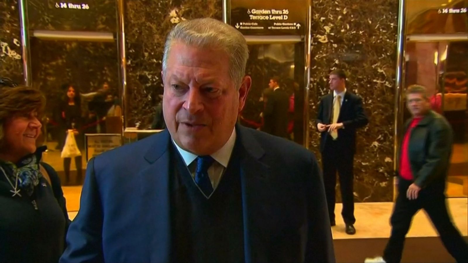 """VIDEO: Gore said he had a """"lengthy and very productive session"""" with the president-elect, who has previously called climate change a """"hoax."""""""