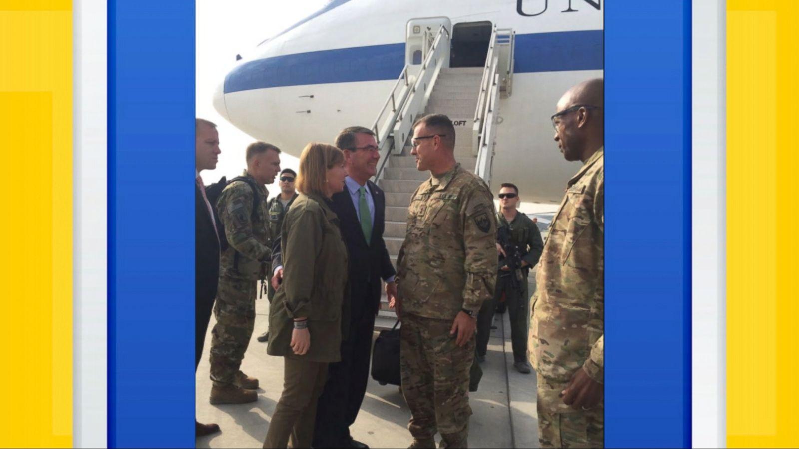 VIDEO: It is Carter's last planned trip to Afghanistan before handing off his Defense Department responsibilities to his designated successor, retired Marine Gen. James Mattis.
